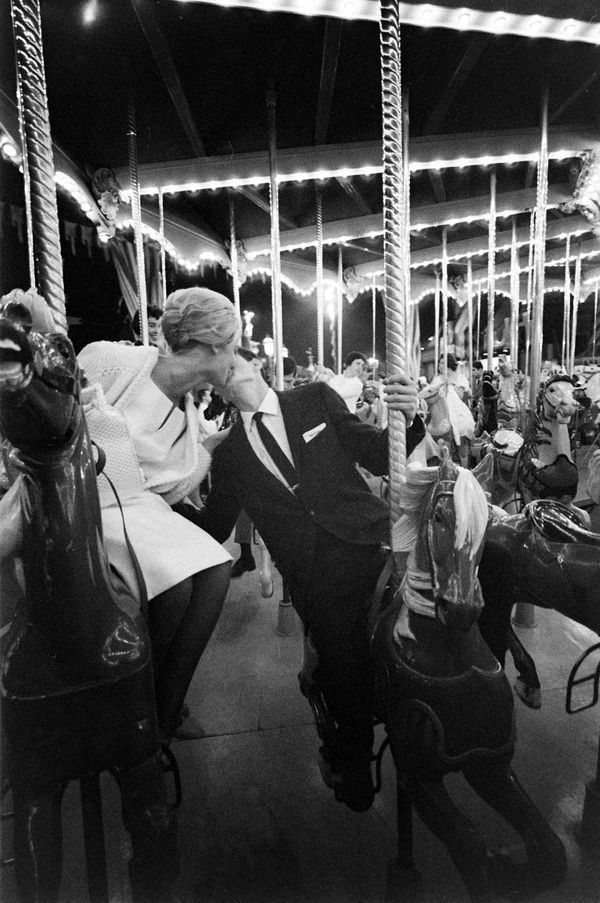 """A couple enjoys an """"All-Night Prom"""" at Disneyland in 1961."""