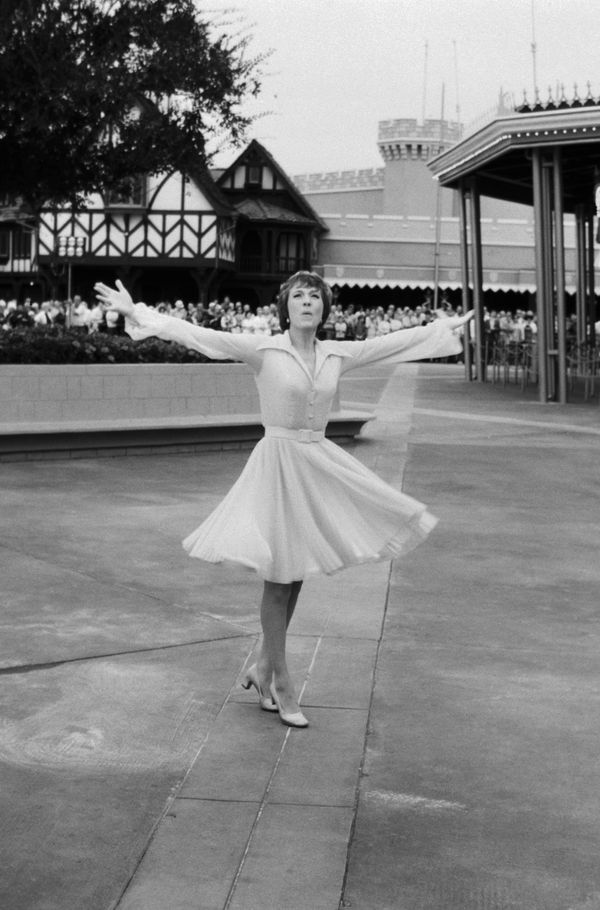 Julie Andrews performs during the grand opening of Disney World in 1971.