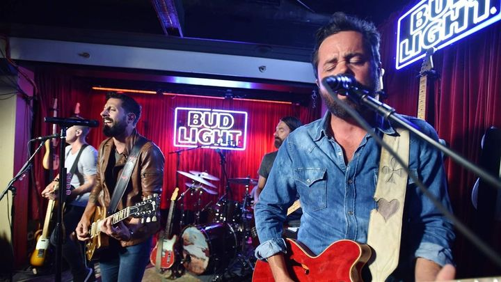 Matthew Ramsey, left, and Brad Tursi of Old Dominion perform at Blue Bar in Nashville, Tennessee. Under federal copyright law