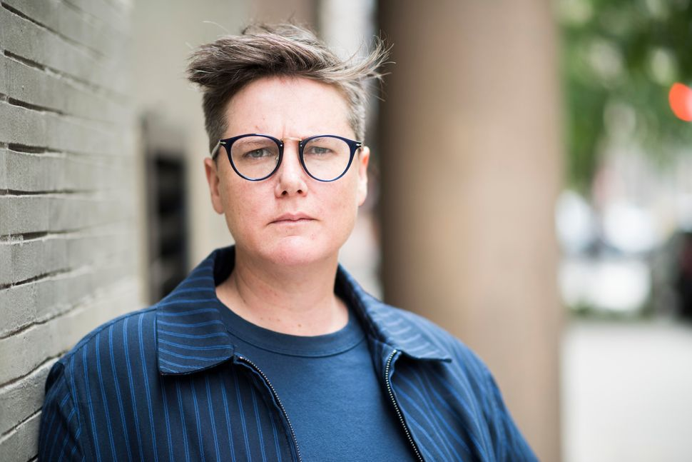 "Australian Hannah Gadsby, standing outside a coffee shop in New York a few days before her special ""Nanette"" premiered o"