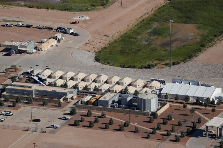 Tents used to detain immigrant children, many of whom have been separated from their parents, in Tornillo, Texas, June 18.&nb