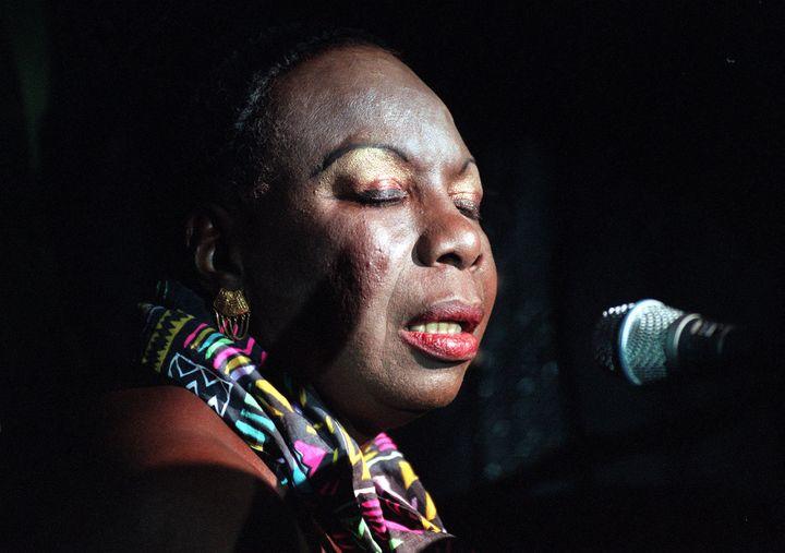 Singer Nina Simone.