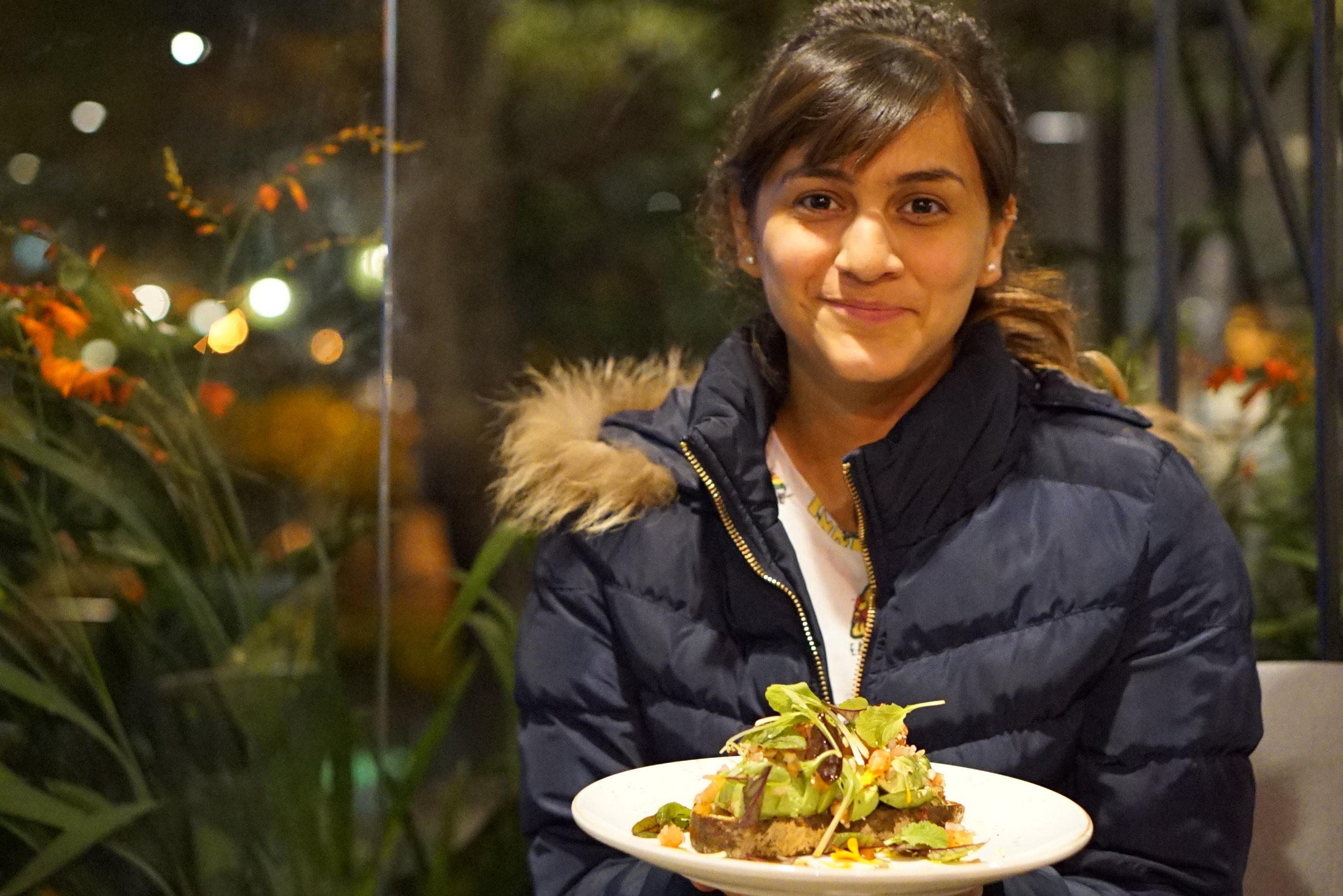 Lisa Ramírez encounters avocado toast at Azahar Coffee in Bogota, Colombia.