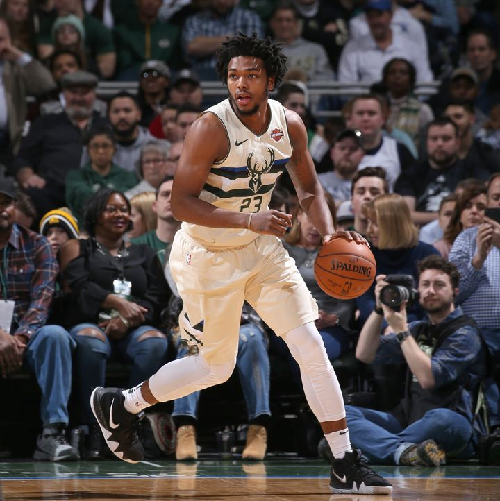 Brown, a guard for the Milwaukee Bucks, is seen playing against the New Orleans Pelicans in February. On Tuesday he filed a l