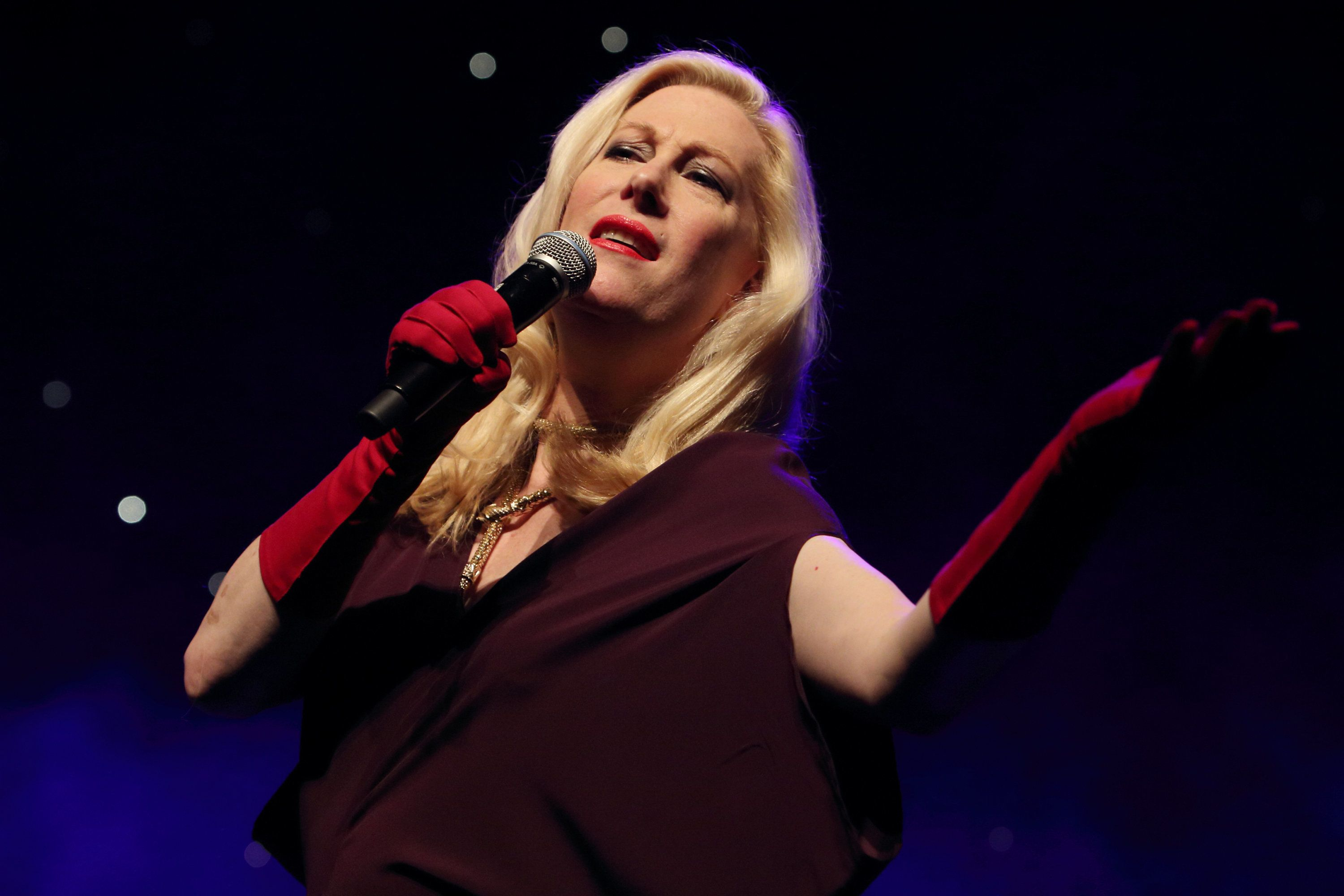 Justin Vivian Bond performs at Queen Elizabeth Hall in London on Feb. 17, 2015.