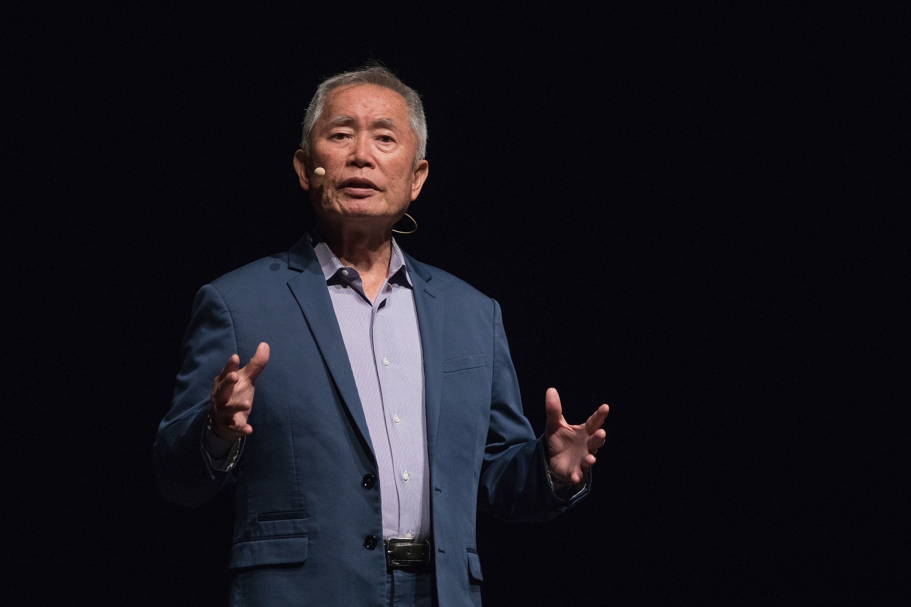 AUSTIN, TX - MAY 04:  Activist/actor George Takei speaks onstage during 'An Evening with George Takei' at the Long Center on May 4, 2018 in Austin, Texas.  (Photo by Rick Kern/WireImage)