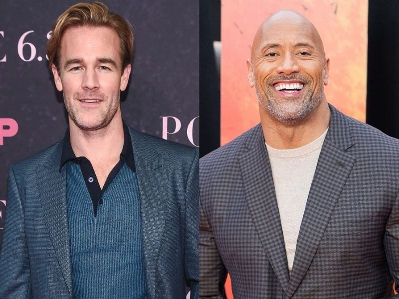 "James Van Der Beek is following in the footsteps of Dwayne ""the Rock"" Johnson by sharing a photo of him doing skin to skin with his newborn daughter."