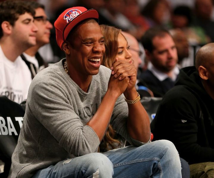 fa182fdbfd8 Jay-Z and Beyonce attend Game Six of the Eastern Conference Quarterfinals  during the 2014