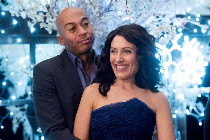 "Abby and Mike in a scene from ""Girlfriends' Guide to Divorce."""