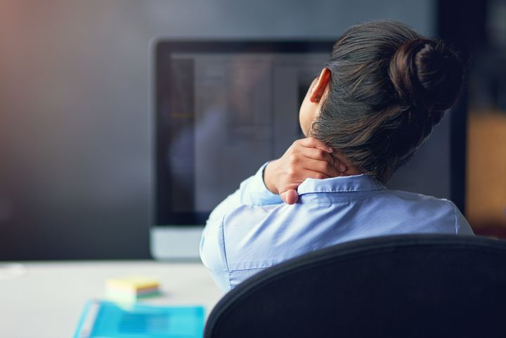 A sore neck or shoulders could be signs of anxiety.