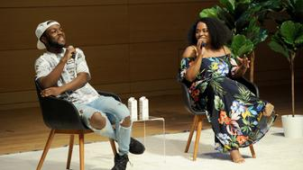 NEW YORK, NY - JUNE 01:  Kid Fury and Crissle West speak onstage during the Teen Vogue Summit 2018: #TurnUp - Day 1 at The New School on June 1, 2018 in New York City.  (Photo by Craig Barritt/Getty Images for Teen Vogue)
