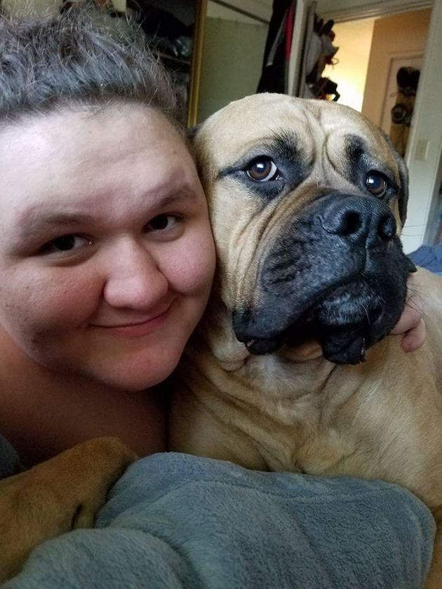 Tessa Connaughton and her service pooch,