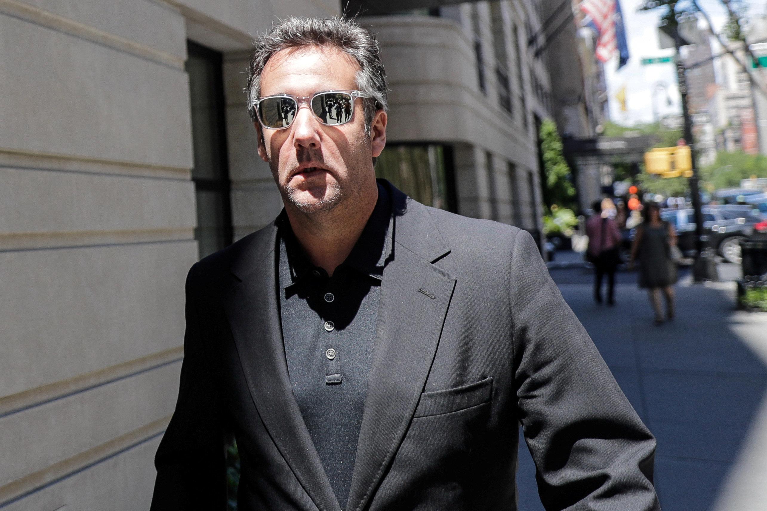 U.S. President Donald Trump's lawyer Michael Cohen leaves his hotel in the Manhattan borough of New York City, New York, U.S., June 15, 2018. REUTERS/Jeenah Moon