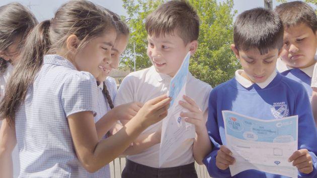Children atRosary Catholic Primary School.