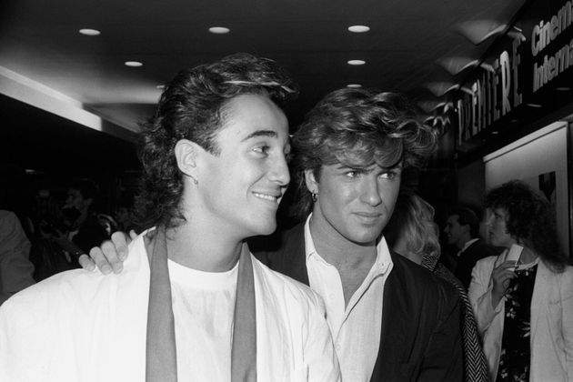 Andrew with the late George in their Wham!