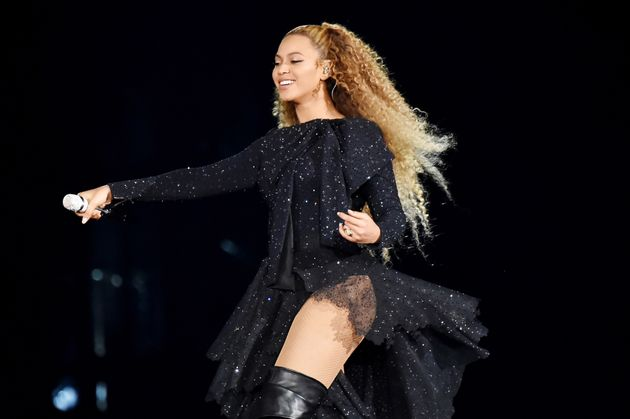 Beyoncé Knowles performs on stage during the 'On the Run II' tour opener at Principality Stadium...