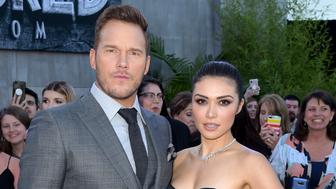 LOS ANGELES, CA - JUNE 12:  Actors Chris Pratt (L) and Daniella Pineda arrive at the premiere of Universal Pictures and Amblin Entertainment's 'Jurassic World: Fallen Kingdom' at the Walt Disney Concert Hall on June 12, 2018 in Los Angeles, California.  (Photo by Kevin Winter/Getty Images)