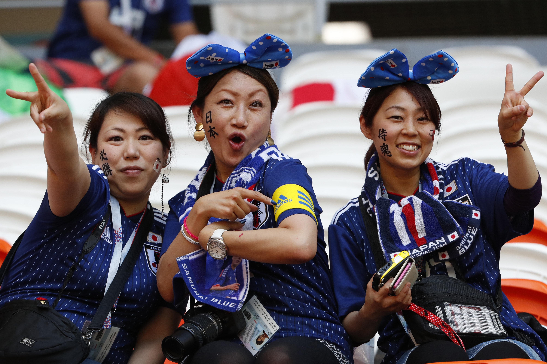 Weibliche Fußball-Fans aus Japan bei der WM 2018 in