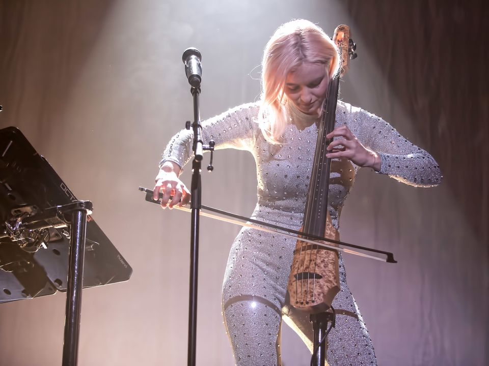 Grace Chatto performing as part of Clean Bandit last
