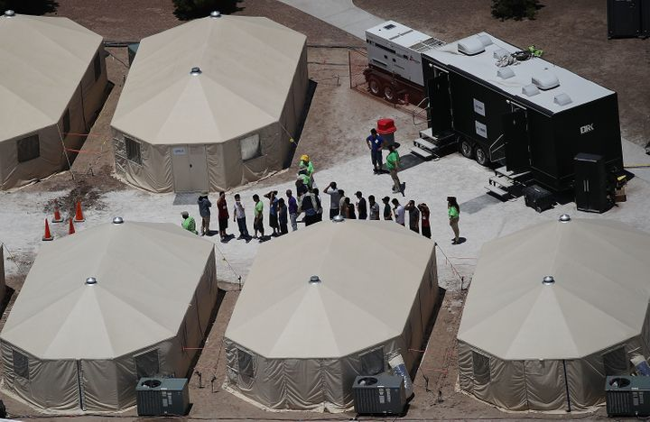 The Trump administration is using the Tornillo, Texas, tent facility to house immigrant children separated from their parents