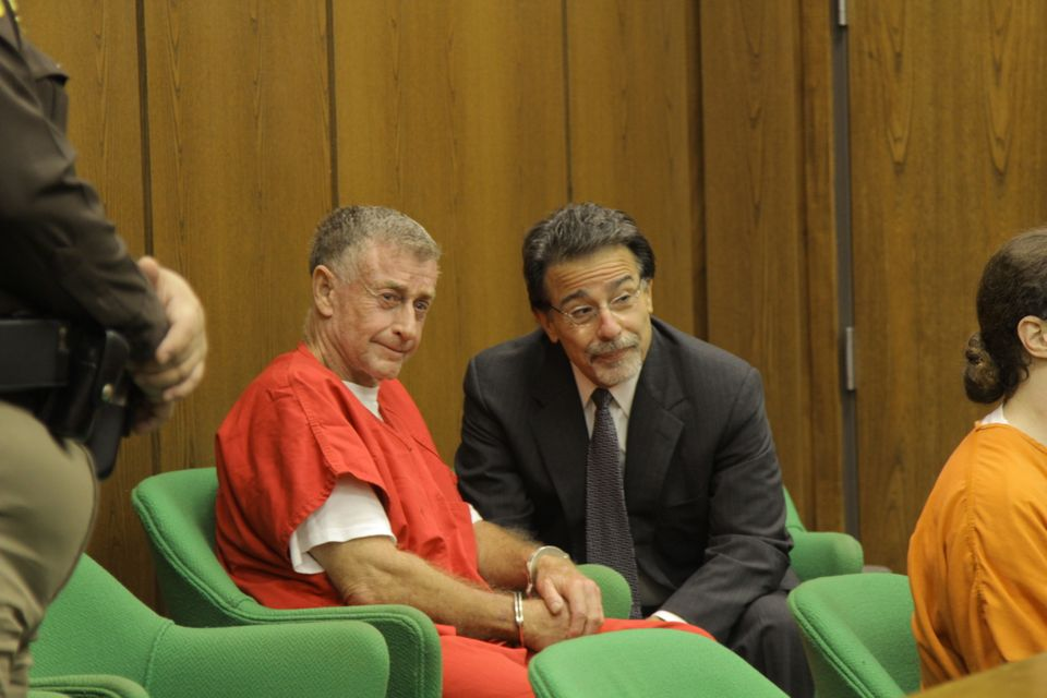 Michael Peterson with David Rudolf in