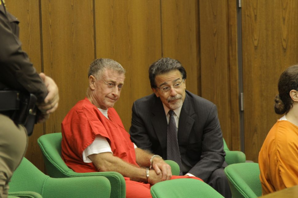 "Michael Peterson with David Rudolf in ""The Staircase."""