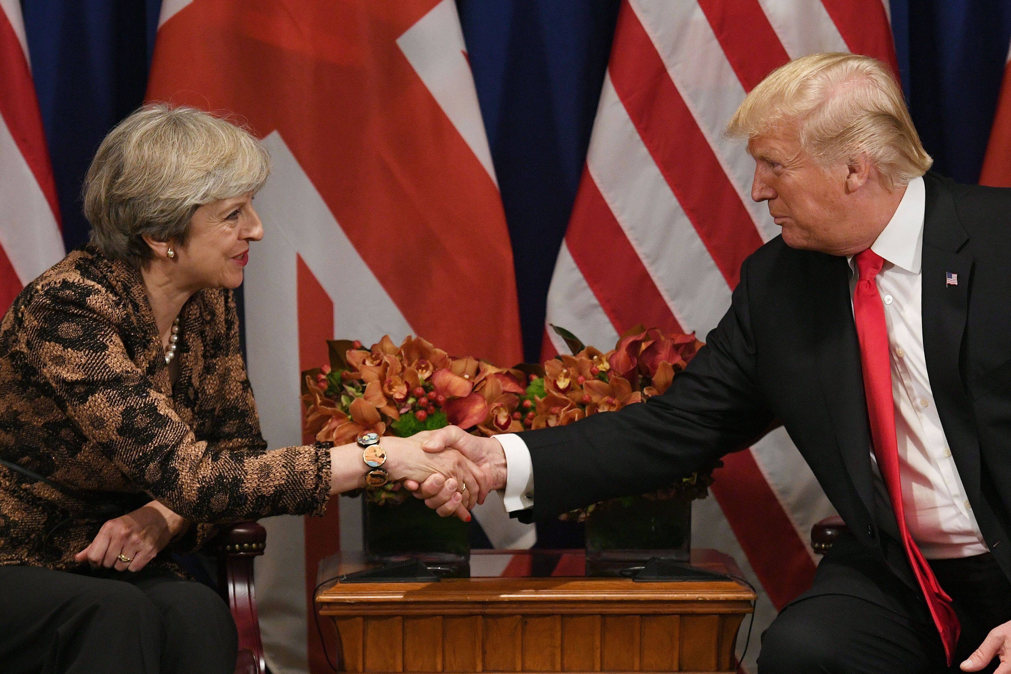 PA Archive  PA Images                                 Theresa May and Donald Trump on her visit to the US
