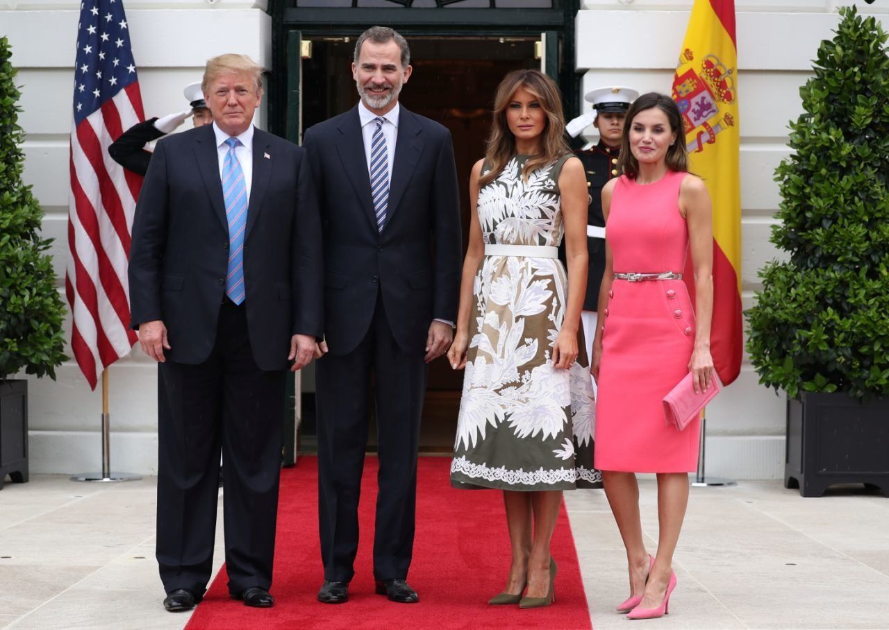 President and Melania Trump hosted  King Felipe VI and Queen Letizia of Spain.