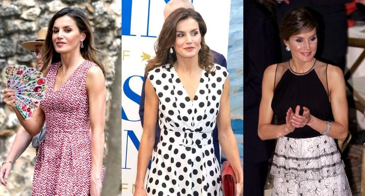 Queen Letizia wore several designer dresses while in San Antonio.