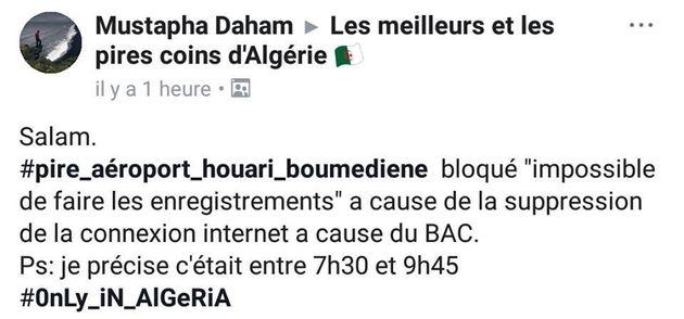 Bac 2018: Des voyageurs bloqués à l'aéroport d'Alger après la coupure