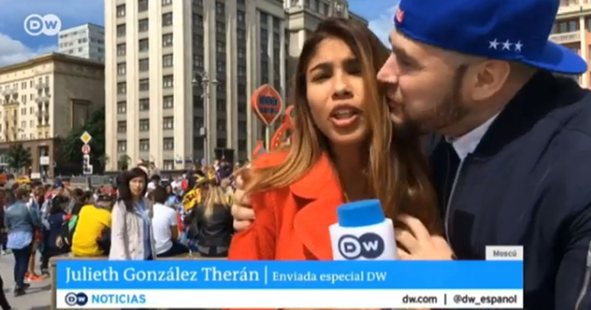 World Cup Reporter Sexually Harassed During Live Broadcast