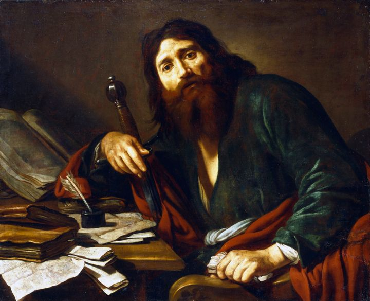 Apostle Paul in a 17th-century painting by the artist Claude Vignon.