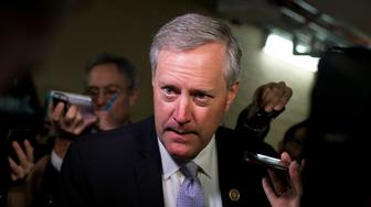 UNITED STATES - OCTOBER 21: Rep. Mark Meadows, R-N.C., talks with reporters after a meeting of the House Republican Conference in the Capitol, October 21 2015. Many questions were about the likelihood of Rep. Paul Ryan, R-Wisc., being elected Speaker of the House. (Photo By Tom Williams/CQ Roll Call)