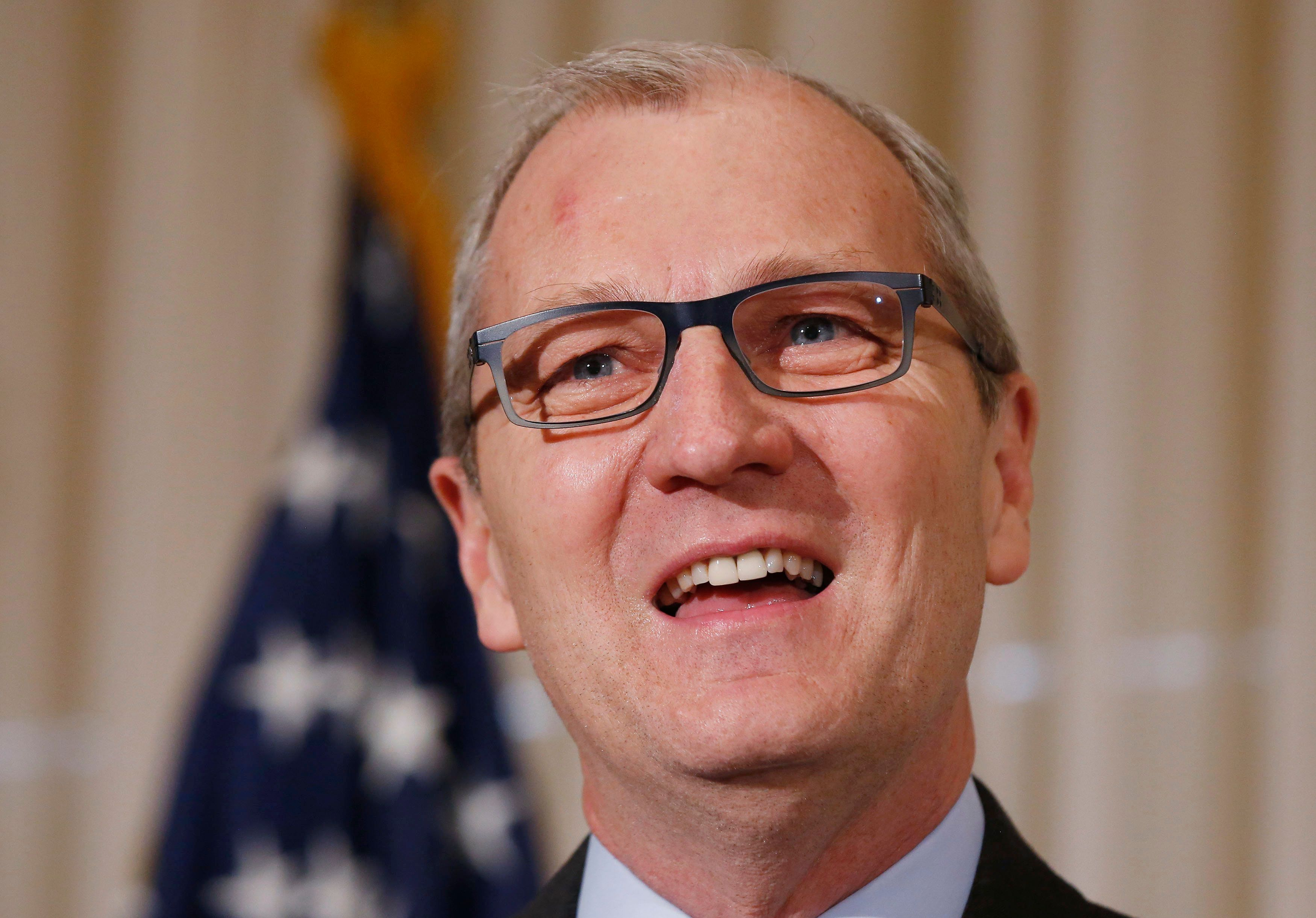 U.S. Representative Kevin Cramer (R-ND) speaks at the National Press Club in Washington, DC, United States on January 8, 2015.  REUTERS/Larry Downing/File Photo