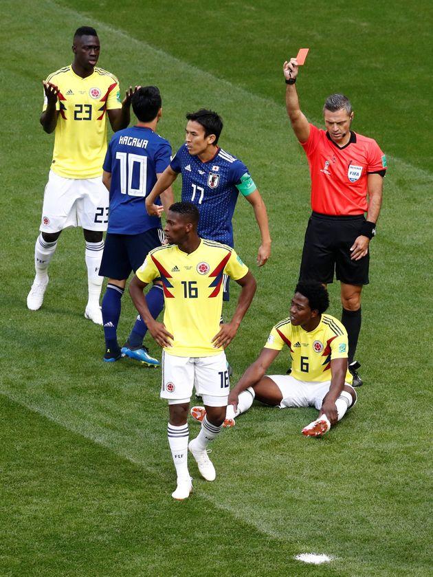 일본전에서 퇴장당한 콜롬비아 선수가 살해 협박을 받고