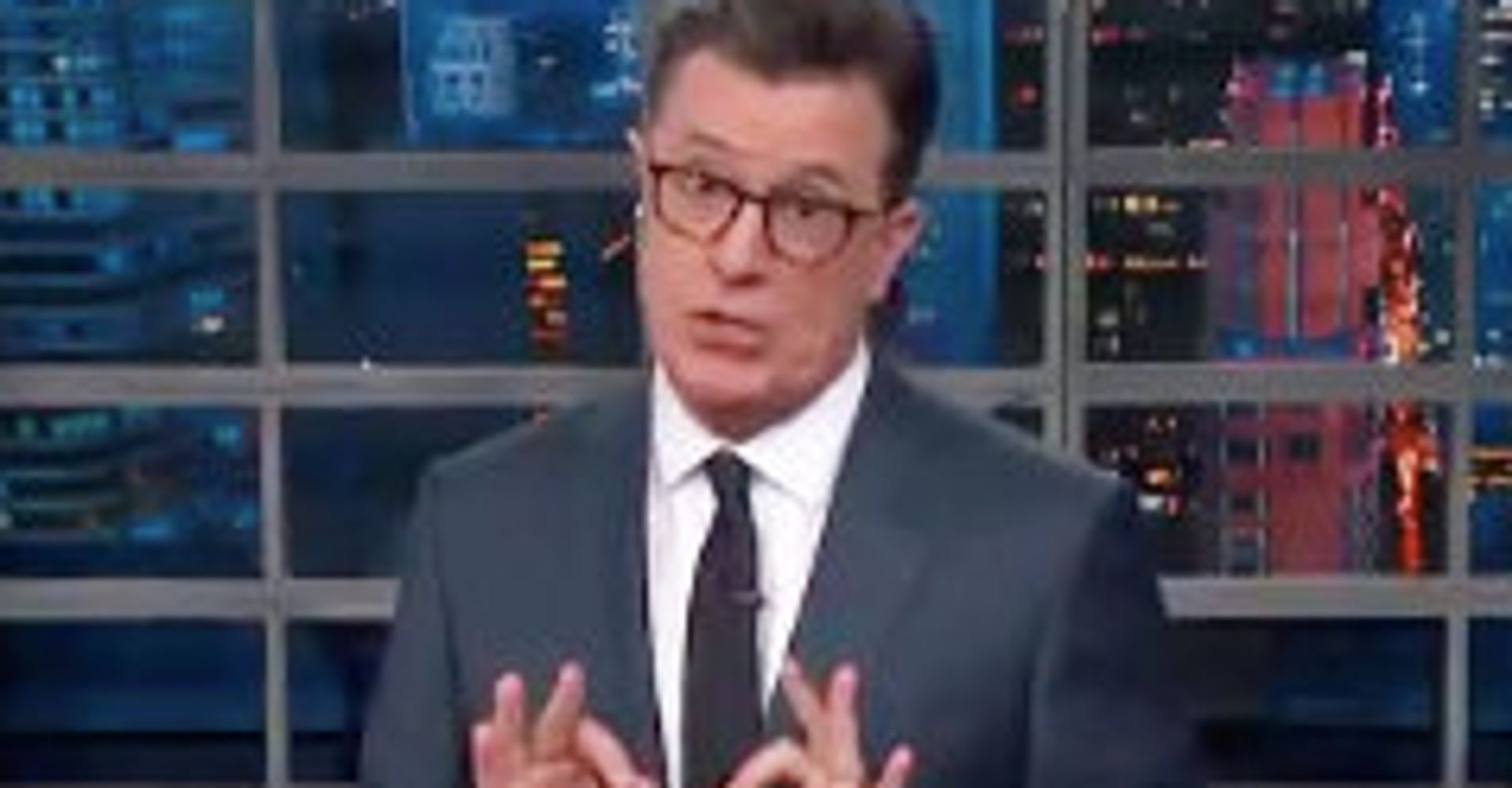 Stephen Colbert Hammers Trump For Pretending To Fix A Crisis He Started