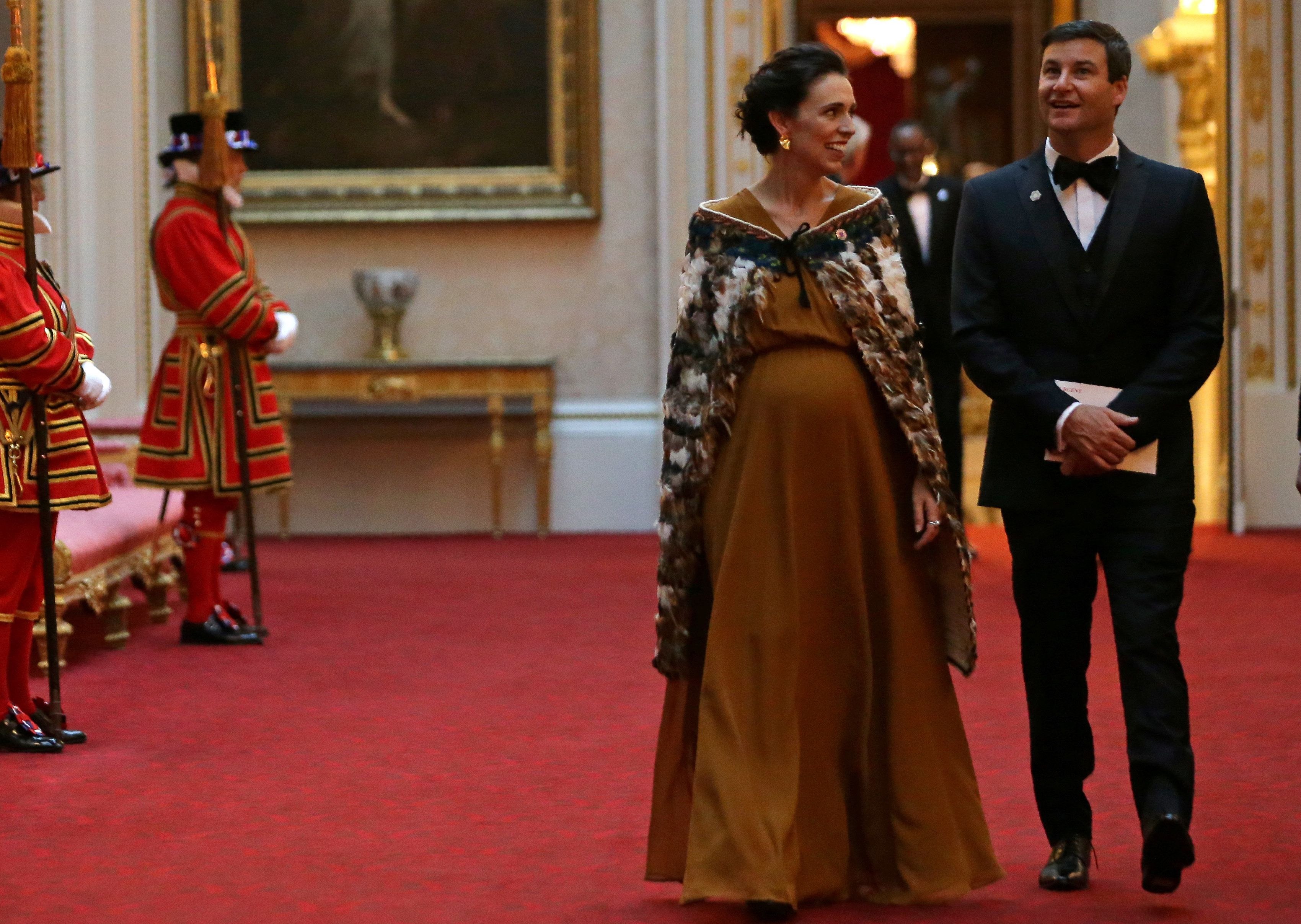 New Zealand's Prime Minister Jacinda Ardern arrives to attend The Queen's Dinner during The Commonwealth Heads of Government Meeting (CHOGM), at Buckingham Palace in London  on April 19, 2018.  Daniel Leal-Olivas/Pool via Reuters