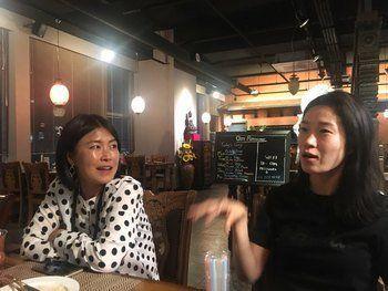 김정은씨(왼쪽)는 현직 학원강사, 차윤주씨는 올해초 뉴스1을 그만둔 12년차 경력 기자