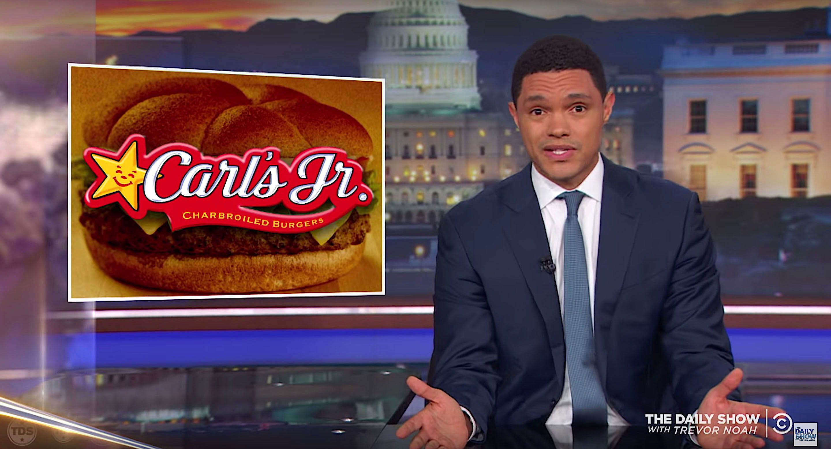 Trevor Noah of The Daily Show asks Where could Kirstjen Nielsen go to eat