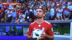 WM-Spiel gegen Spanien: Irans Mohammadi sorgt mit kuriosem Einwurf für