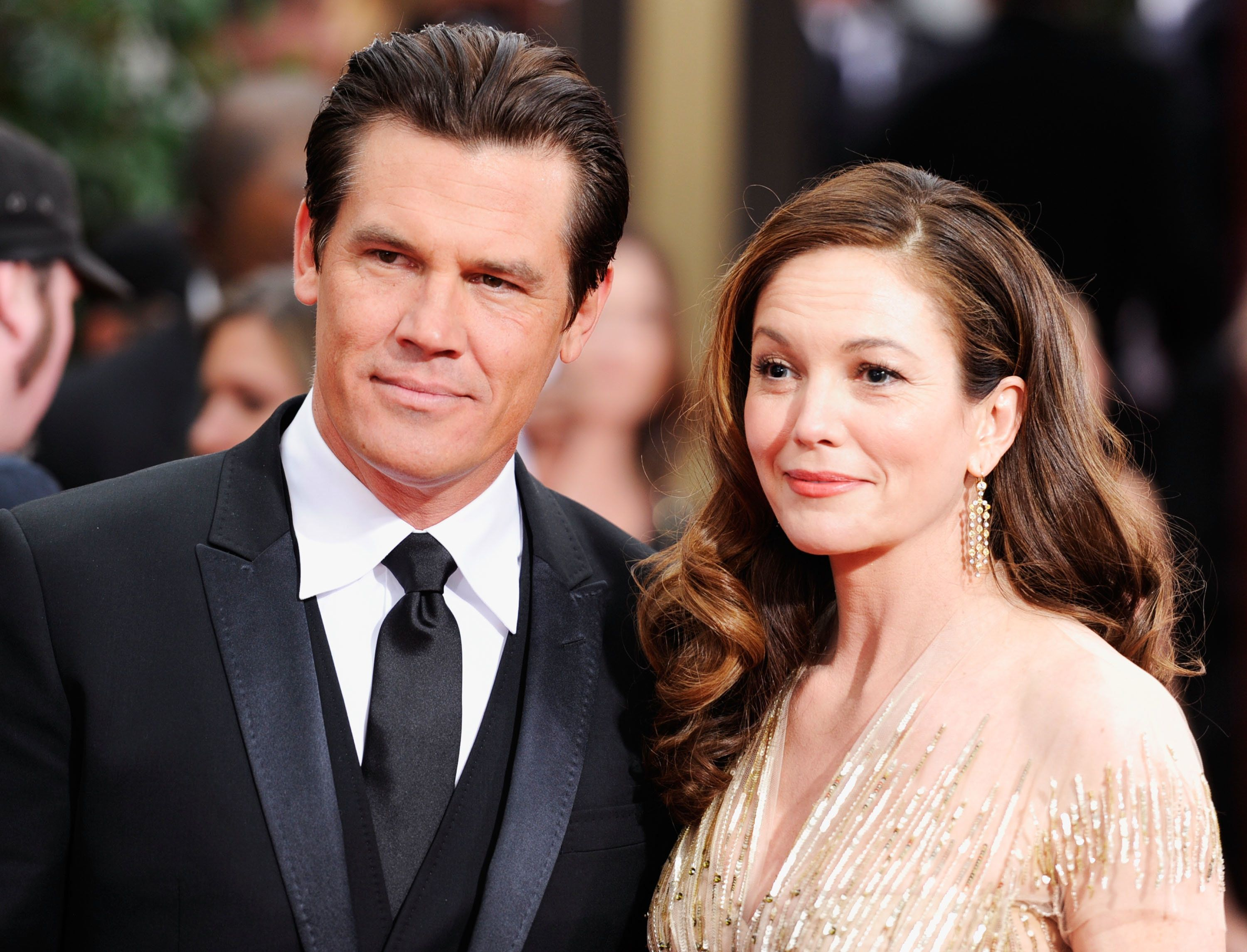 Josh Brolin and Diane Lane arrive at the 69th Annual Golden Globe Awards in 2012.
