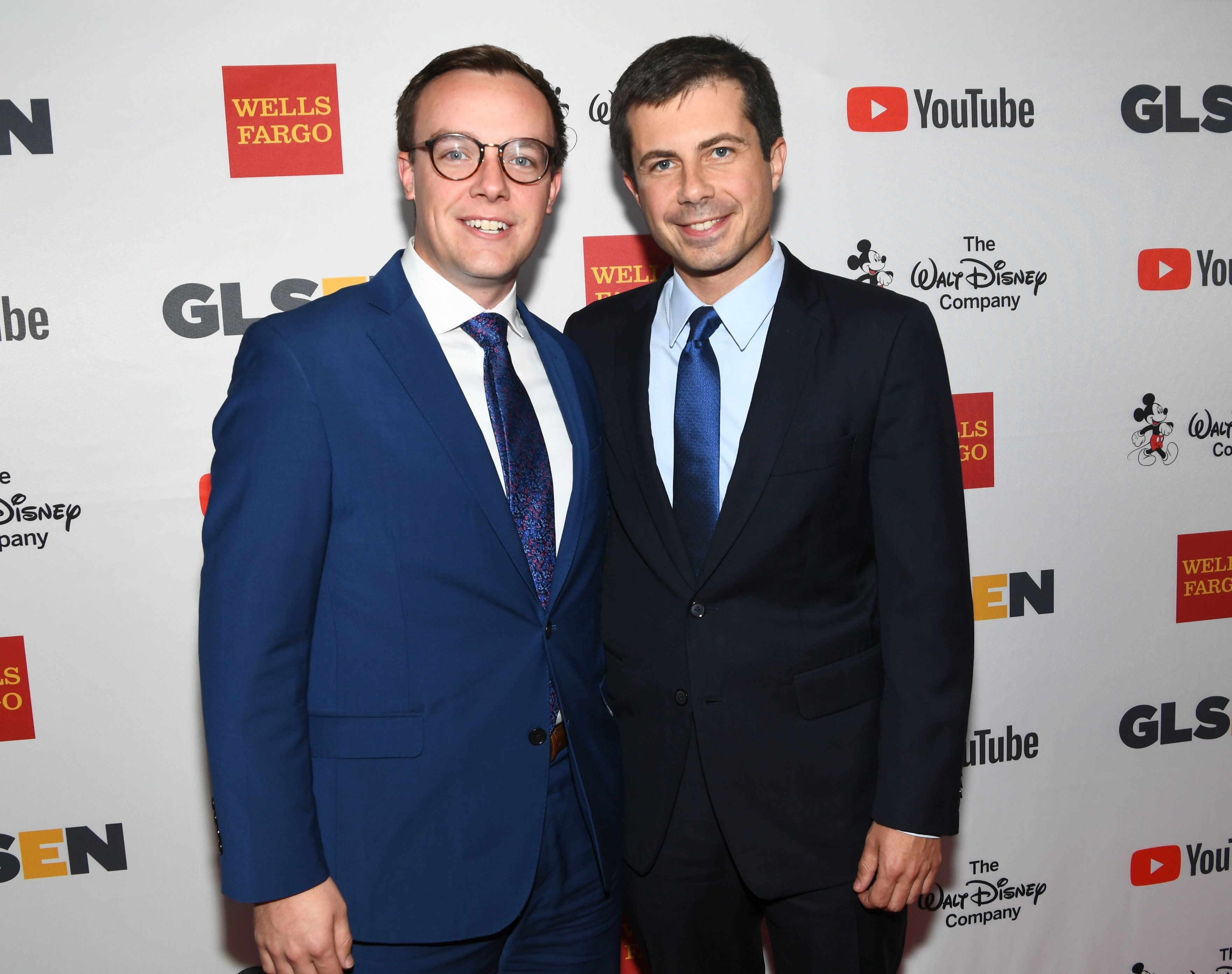 Chasten Glezman (left) and South Bend, Indiana, Mayor Peter Buttigieg were married June 16.