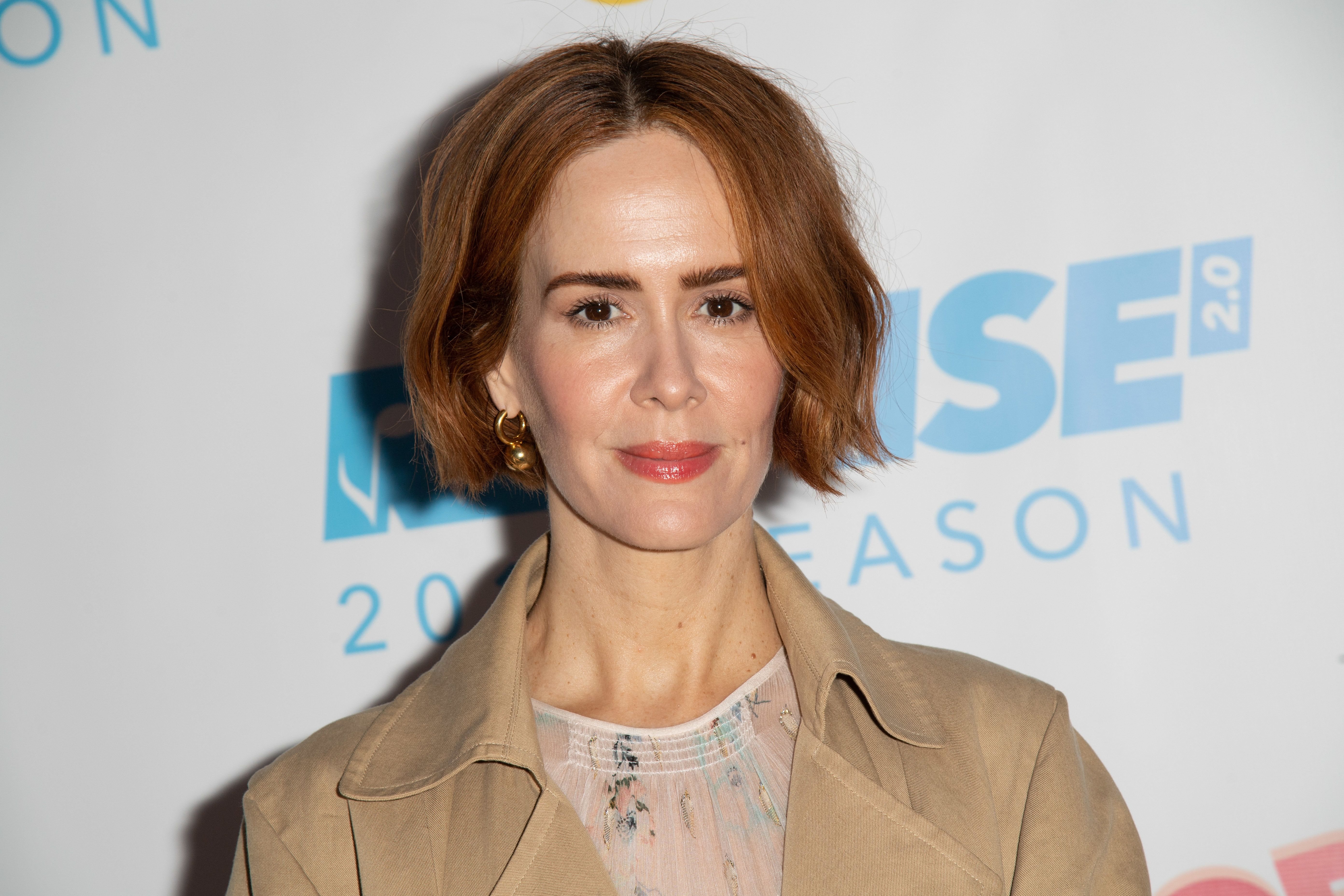 WESTWOOD, CA - JUNE 20:  Actress Sarah Paulson attends Reprise 2.0 Presents 'Sweet Charity' Opening Night Performance  at Freud Playhouse, UCLA on June 20, 2018 in Westwood, California.  (Photo by Earl Gibson III/Getty Images)