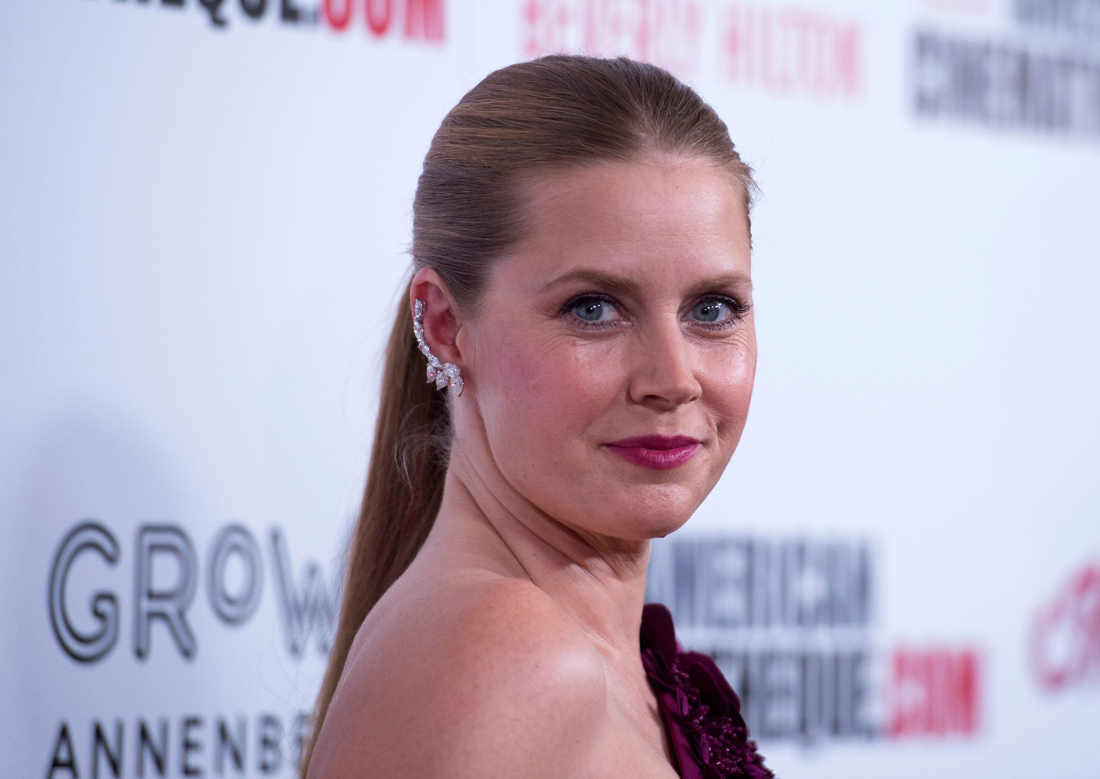 Actress Amy Adams attends the American Cinematheque's 2017 Award Show honoring Amy Adams with the American Cinematheque Award and IMAX with the Sid Grauman Award, on November 10, 2017, in Beverly Hills, California. / AFP PHOTO / CHRIS DELMAS        (Photo credit should read CHRIS DELMAS/AFP/Getty Images)