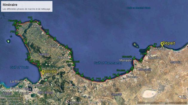300 Kilomètres à pied pour nettoyer la côte tunisienne, le défi surprenant d'un jeune