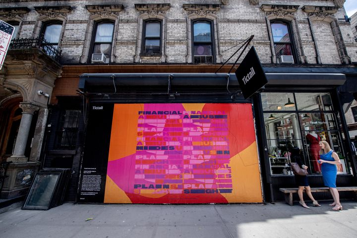 Artist Isabel Castillo Guijarro created the first mural, on display on New York City's Lower East Side.