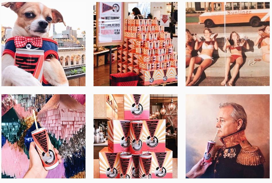 "Ramona's Instagram account, <a href=""https://www.instagram.com/drinkramona/?hl=en"" target=""_blank"">@drinkramona</a>, is a veritable millennial's playground."