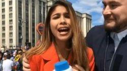 Une journaliste agressée sexuellement en direct juste avant le début du Mondial