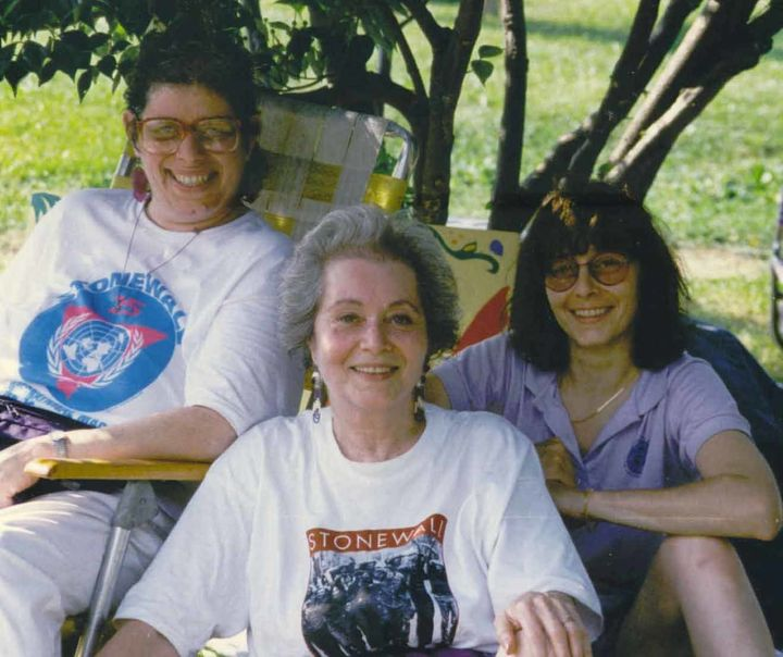 Frances Goldin with her daughters.