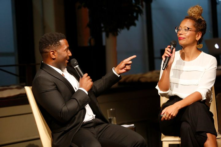 """Wortham with her""""Still Processing"""" co-host,Wesley Morris. She says Americans are nowhaving conv"""